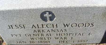 WOODS (VETERAN WWI), JESSE ALECH - White County, Arkansas | JESSE ALECH WOODS (VETERAN WWI) - Arkansas Gravestone Photos