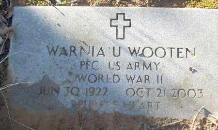 WOOTEN (VETERAN WWII), WARNIA U - White County, Arkansas | WARNIA U WOOTEN (VETERAN WWII) - Arkansas Gravestone Photos