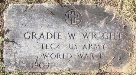 WRIGHT  (VETERAN WWII), GRADIE W - White County, Arkansas   GRADIE W WRIGHT  (VETERAN WWII) - Arkansas Gravestone Photos