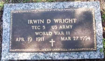 WRIGHT (VETERAN WWII), IRWIN D - White County, Arkansas | IRWIN D WRIGHT (VETERAN WWII) - Arkansas Gravestone Photos