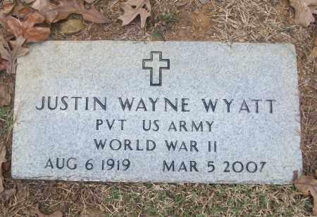 WYATT  (VETERAN WWII), JUSTIN WAYNE - White County, Arkansas | JUSTIN WAYNE WYATT  (VETERAN WWII) - Arkansas Gravestone Photos