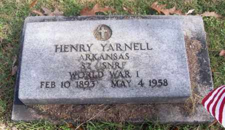 YARNELL  (VETERAN WWI), HENRY - White County, Arkansas | HENRY YARNELL  (VETERAN WWI) - Arkansas Gravestone Photos