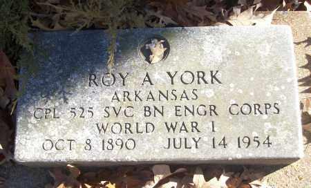 YORK (VETERAN WWI), ROY A - White County, Arkansas | ROY A YORK (VETERAN WWI) - Arkansas Gravestone Photos