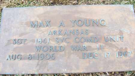 YOUNG  (VETERAN WWII), MAX A - White County, Arkansas | MAX A YOUNG  (VETERAN WWII) - Arkansas Gravestone Photos