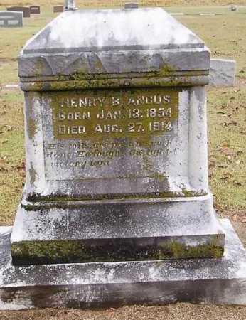 ANGUS, HENRY B. - Woodruff County, Arkansas | HENRY B. ANGUS - Arkansas Gravestone Photos