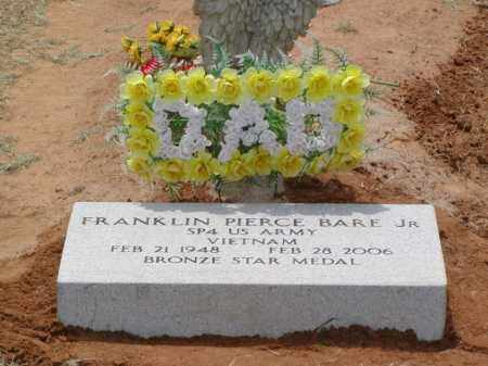 BARE, JR (VETERAN VIET), FRANKLIN PIERCE - Woodruff County, Arkansas | FRANKLIN PIERCE BARE, JR (VETERAN VIET) - Arkansas Gravestone Photos