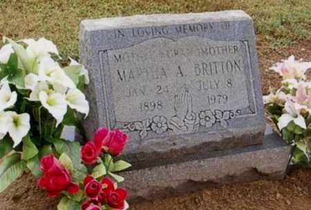 BRITTON, MARTHA A. - Woodruff County, Arkansas   MARTHA A. BRITTON - Arkansas Gravestone Photos