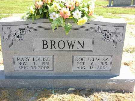 BROWN, SR, DOC FELIX - Woodruff County, Arkansas | DOC FELIX BROWN, SR - Arkansas Gravestone Photos