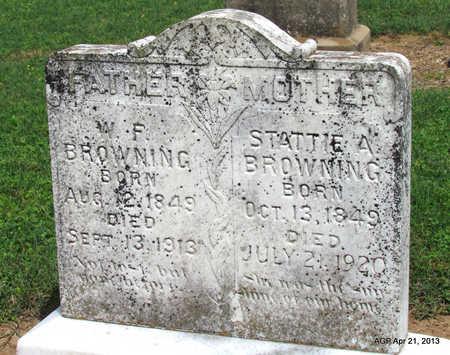 BROWNING, W. F. - Woodruff County, Arkansas   W. F. BROWNING - Arkansas Gravestone Photos
