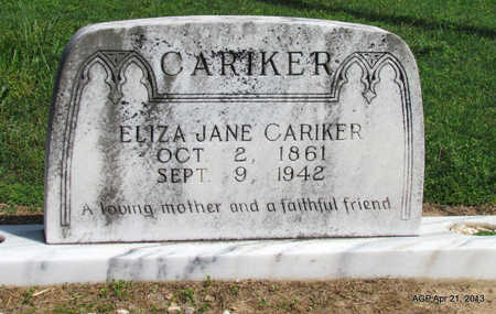 CARIKER, ELIZA JANE - Woodruff County, Arkansas | ELIZA JANE CARIKER - Arkansas Gravestone Photos