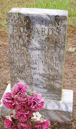 EDWARDS, MARY JANE - Woodruff County, Arkansas | MARY JANE EDWARDS - Arkansas Gravestone Photos