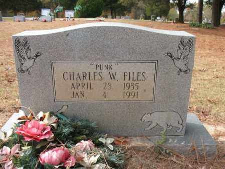 "FILES, CHARLES W ""PUNK"" - Woodruff County, Arkansas | CHARLES W ""PUNK"" FILES - Arkansas Gravestone Photos"