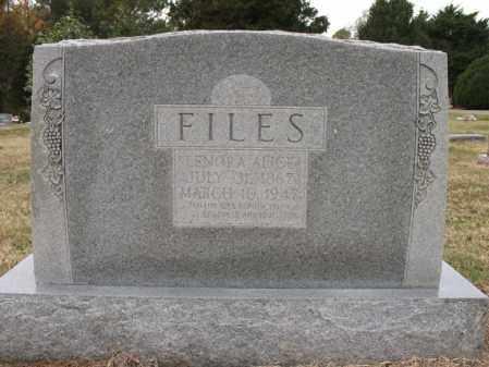 FILES, LENORA ALICE - Woodruff County, Arkansas | LENORA ALICE FILES - Arkansas Gravestone Photos