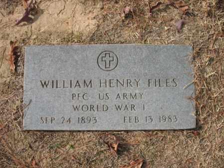 FILES (VETERAN WWI), WILLIAM HENRY - Woodruff County, Arkansas   WILLIAM HENRY FILES (VETERAN WWI) - Arkansas Gravestone Photos