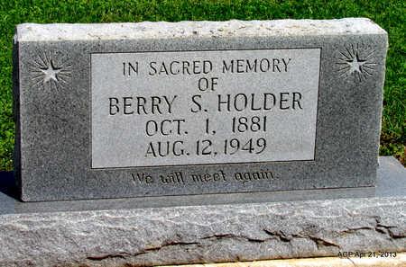 HOLDER, BERRY S. - Woodruff County, Arkansas | BERRY S. HOLDER - Arkansas Gravestone Photos