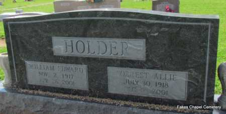 HOLDER, WILLIAM EDWARD - Woodruff County, Arkansas | WILLIAM EDWARD HOLDER - Arkansas Gravestone Photos