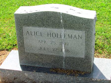HOLLEMAN, ALICE - Woodruff County, Arkansas | ALICE HOLLEMAN - Arkansas Gravestone Photos