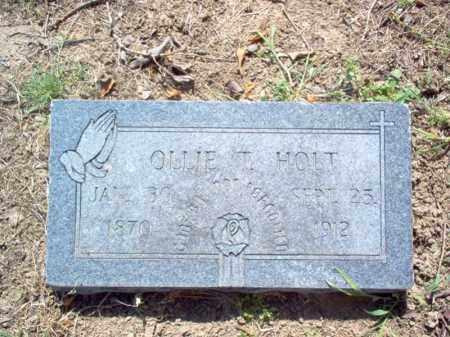 HOLT, OLLIE T - Woodruff County, Arkansas   OLLIE T HOLT - Arkansas Gravestone Photos