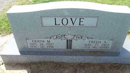 LOVE, FRANK M. - Woodruff County, Arkansas | FRANK M. LOVE - Arkansas Gravestone Photos