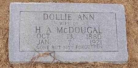 MCDOUGAL, DOLLIE ANN - Woodruff County, Arkansas   DOLLIE ANN MCDOUGAL - Arkansas Gravestone Photos