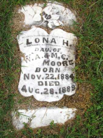 MOORE, LONA H - Woodruff County, Arkansas   LONA H MOORE - Arkansas Gravestone Photos