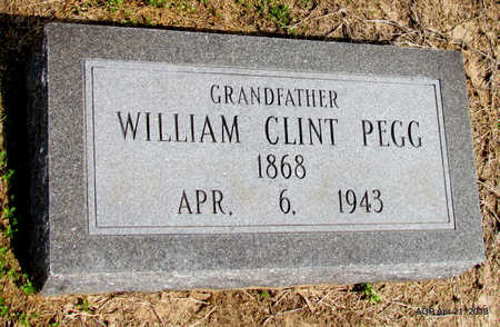 PEGG, WILLIAM CLINT - Woodruff County, Arkansas | WILLIAM CLINT PEGG - Arkansas Gravestone Photos