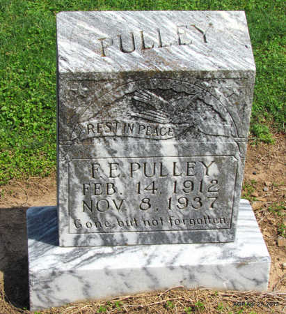 PULLEY, F. E. - Woodruff County, Arkansas | F. E. PULLEY - Arkansas Gravestone Photos