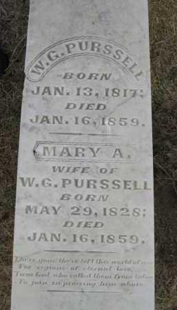 PURSSELL, MARY A. - Woodruff County, Arkansas | MARY A. PURSSELL - Arkansas Gravestone Photos