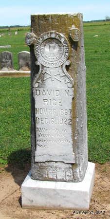 RICE, DAVID M. - Woodruff County, Arkansas | DAVID M. RICE - Arkansas Gravestone Photos