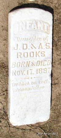 ROOKS, INFANT DAUGHTER - Woodruff County, Arkansas   INFANT DAUGHTER ROOKS - Arkansas Gravestone Photos