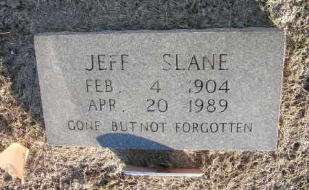 SLANE, JEFF - Woodruff County, Arkansas   JEFF SLANE - Arkansas Gravestone Photos
