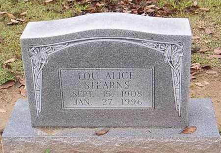 STEARNS, LOU ALICE - Woodruff County, Arkansas | LOU ALICE STEARNS - Arkansas Gravestone Photos