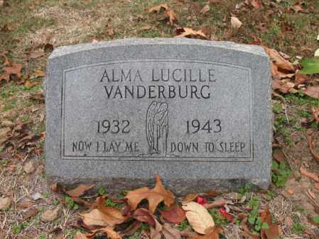 VANDERBURG, ALMA LUCILLE - Woodruff County, Arkansas | ALMA LUCILLE VANDERBURG - Arkansas Gravestone Photos