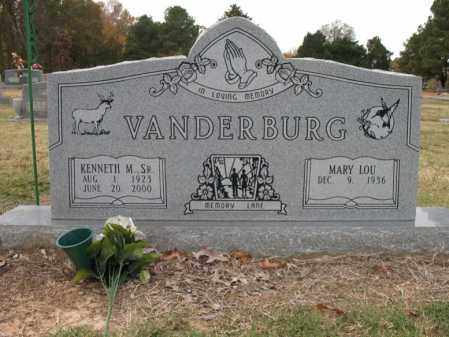 VANDERBURG, SR., KENNETH M - Woodruff County, Arkansas | KENNETH M VANDERBURG, SR. - Arkansas Gravestone Photos