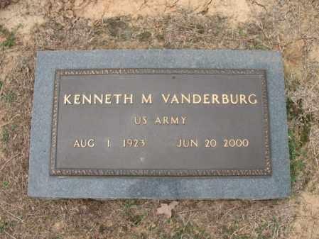 VANDERBURG (VETERAN), KENNETH M - Woodruff County, Arkansas   KENNETH M VANDERBURG (VETERAN) - Arkansas Gravestone Photos