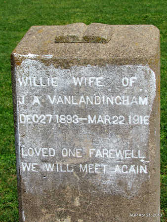VANLANDINGHAM, WILLIE - Woodruff County, Arkansas | WILLIE VANLANDINGHAM - Arkansas Gravestone Photos
