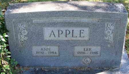 APPLE, LEE - Yell County, Arkansas | LEE APPLE - Arkansas Gravestone Photos