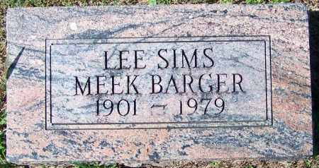 MEEK BARGER, LEE SIMS - Yell County, Arkansas   LEE SIMS MEEK BARGER - Arkansas Gravestone Photos