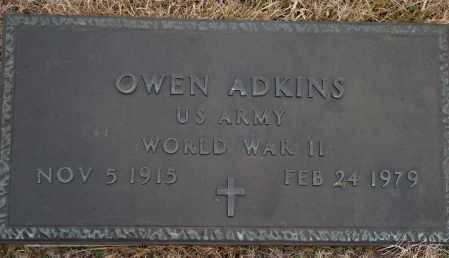ADKINS (VETERAN WWII), OWEN - Yell County, Arkansas | OWEN ADKINS (VETERAN WWII) - Arkansas Gravestone Photos