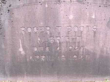 """ALBRIGHT, ROGER T """"BOOTS"""" - Yell County, Arkansas   ROGER T """"BOOTS"""" ALBRIGHT - Arkansas Gravestone Photos"""