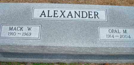 ALEXANDER, OPAL M. - Yell County, Arkansas | OPAL M. ALEXANDER - Arkansas Gravestone Photos
