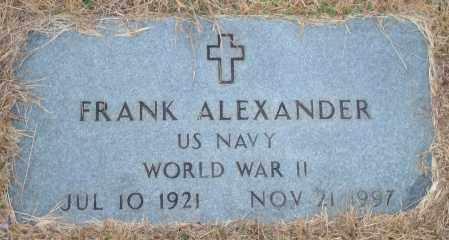 ALEXANDER (VETERAN WWII), FRANK - Yell County, Arkansas | FRANK ALEXANDER (VETERAN WWII) - Arkansas Gravestone Photos