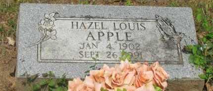 LOUIS APPLE, HAZEL - Yell County, Arkansas   HAZEL LOUIS APPLE - Arkansas Gravestone Photos