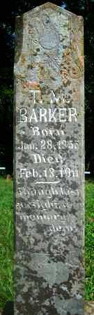 BARKER, T  MORGAN - Yell County, Arkansas | T  MORGAN BARKER - Arkansas Gravestone Photos