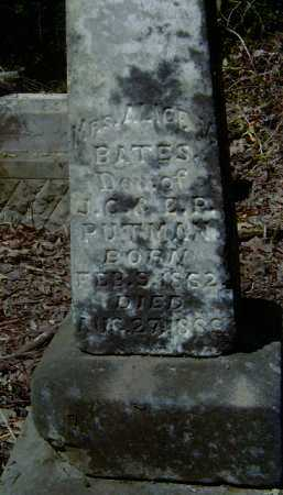 PUTMAN BATES, ALICE VIRGINIA - Yell County, Arkansas | ALICE VIRGINIA PUTMAN BATES - Arkansas Gravestone Photos