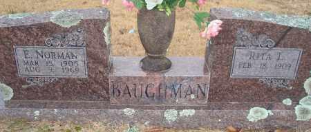 BAUGHMAN, E. NORMAN - Yell County, Arkansas | E. NORMAN BAUGHMAN - Arkansas Gravestone Photos