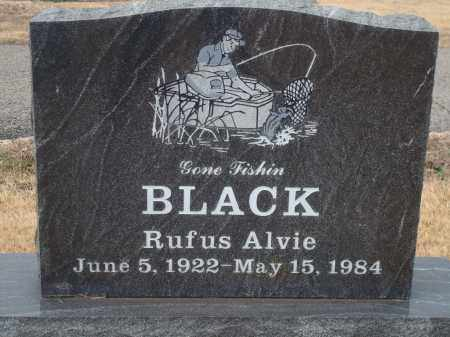 BLACK, RUFUS ALVIE - Yell County, Arkansas | RUFUS ALVIE BLACK - Arkansas Gravestone Photos