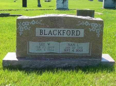 BLACKFORD, NAN - Yell County, Arkansas | NAN BLACKFORD - Arkansas Gravestone Photos