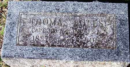 BOLES (VETERAN UNION), THOMAS - Yell County, Arkansas | THOMAS BOLES (VETERAN UNION) - Arkansas Gravestone Photos