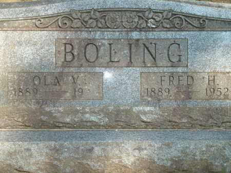 BOLING, FRED H. - Yell County, Arkansas | FRED H. BOLING - Arkansas Gravestone Photos